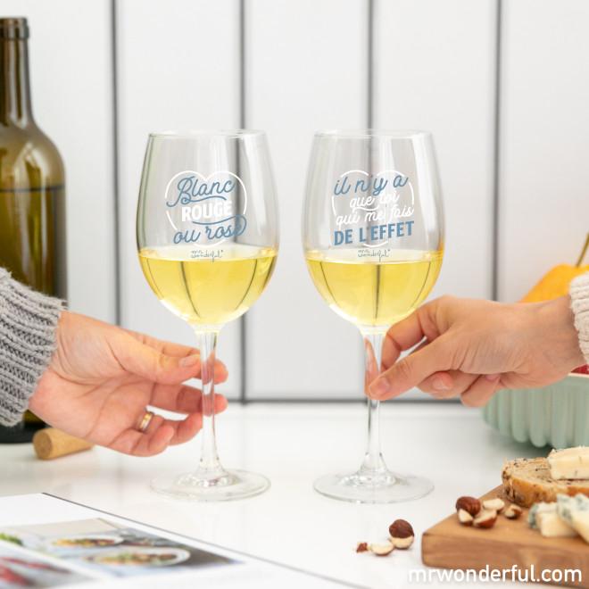 Set de deux verres à vin pour trinquer à toutes les bonnes choses