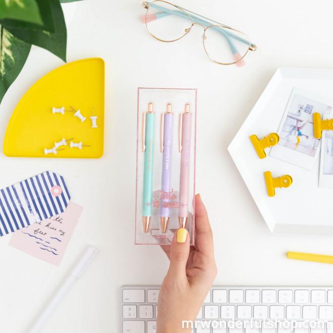 Set of 3 pens to write down brilliant ideas