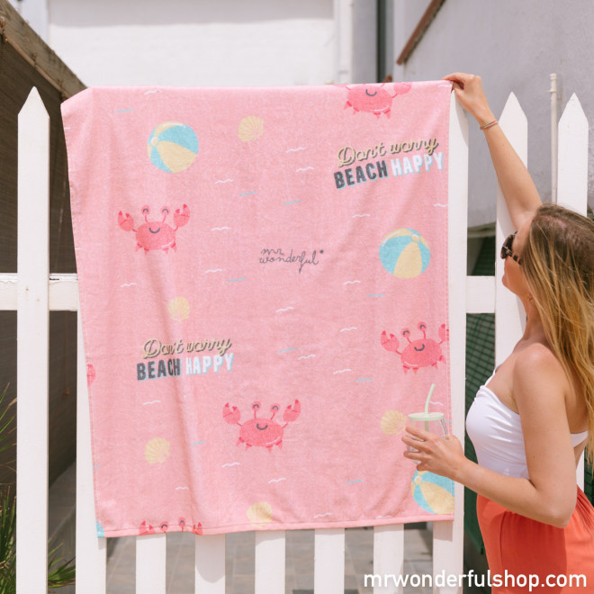 Serviette de plage - Don't worry beach happy