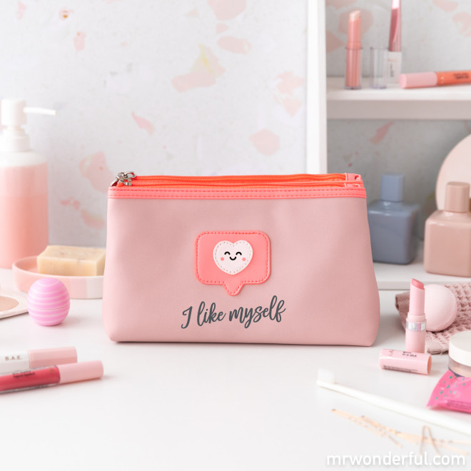 Trousse de toilette double - I like myself