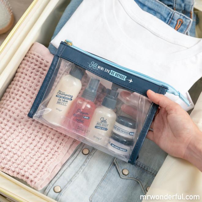 Trousse de toilette - Kit mini spa de voyage