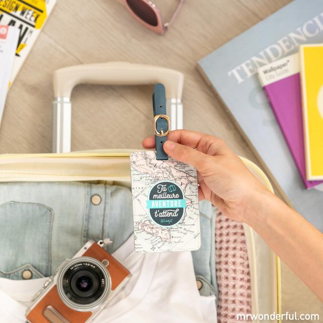 Étiquette de bagage - Ta meilleure aventure t'attend