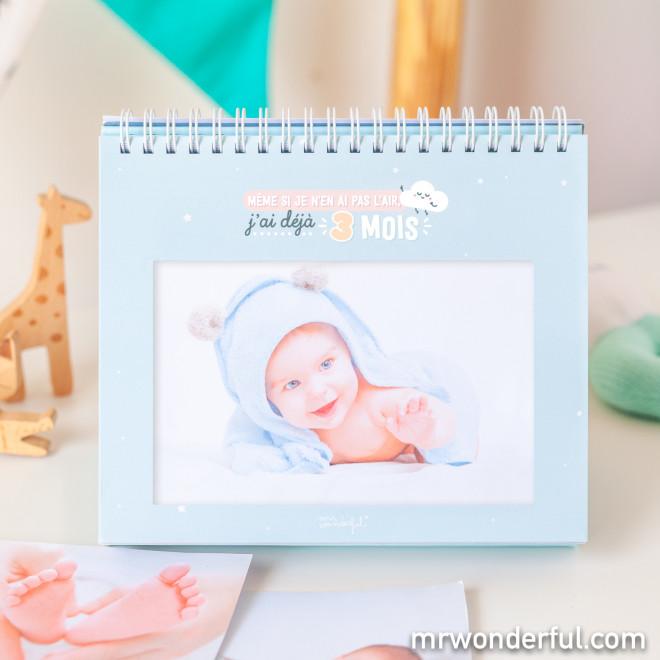 Album photo bébé – 12 mois remplis à ras bord d'amour