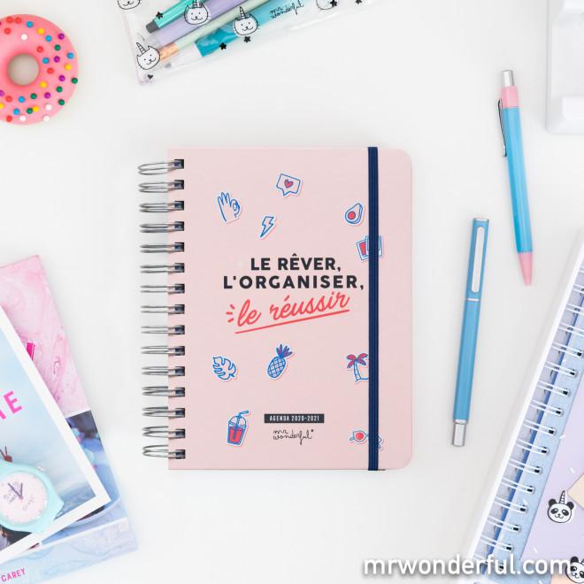 Agenda sketch 2020-2021 Journalier - Le rêver, l'organiser...