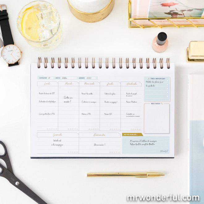 Planning semainier