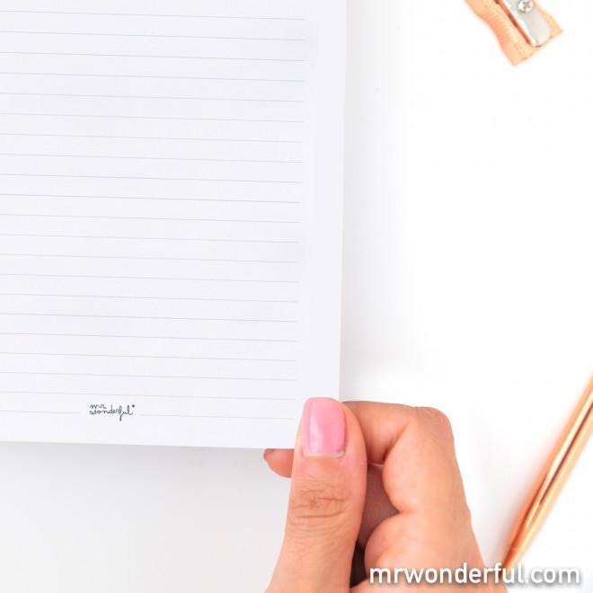 Cahier avec planning semainier
