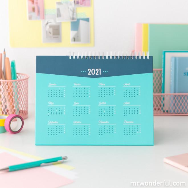 Calendrier de bureau 2021 Mr. Wonderful