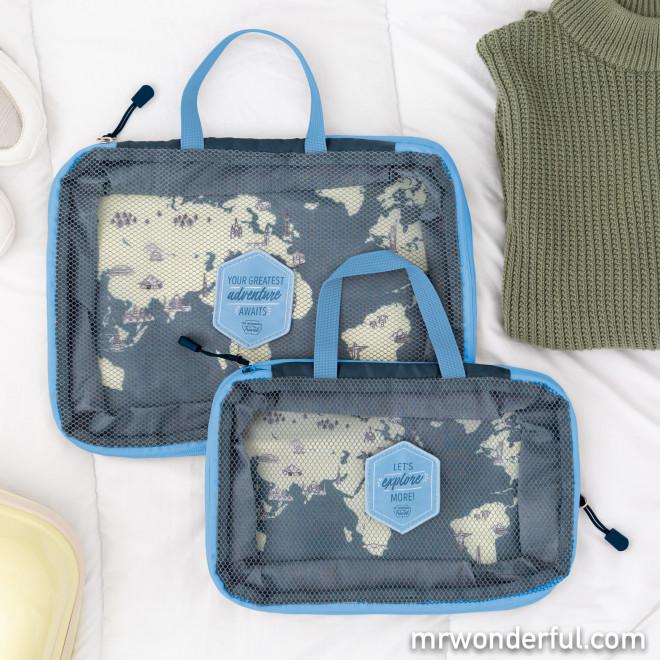 Set de 2 organisateurs de voyage - Let's explore more!