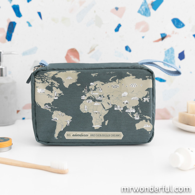 Trousse de toilette de voyage - The world is waiting for you