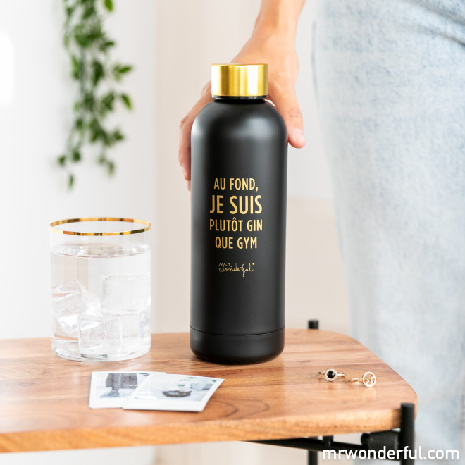 Bouteille Black&Gold - Au fond, je suis plutôt gin que gym