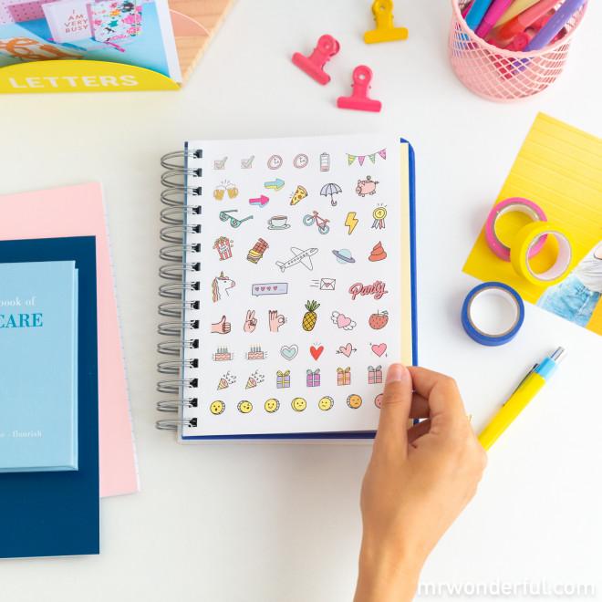 Agenda sketch 2021 Journalier - Ça va être fun