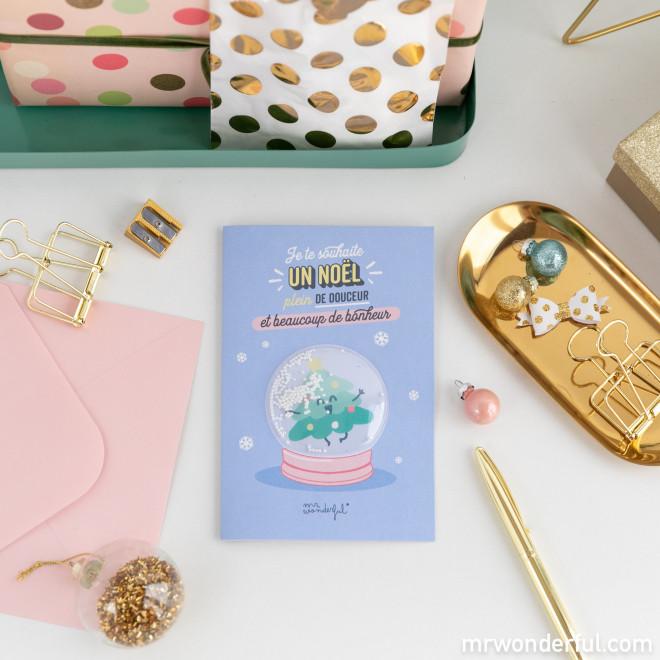 Carte Noël - Je te souhaite un Noël plein de douceur et…