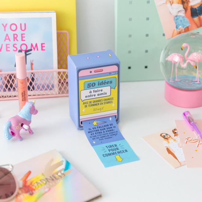 Boîte distributrice d'idées à faire entre amis