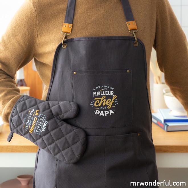 Tablier + gant de cuisine - Il n'y a pas de meilleur chef que papa