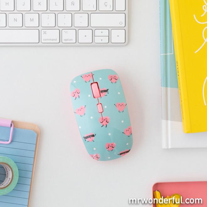 Set tapis de souris et souris - Cœurs