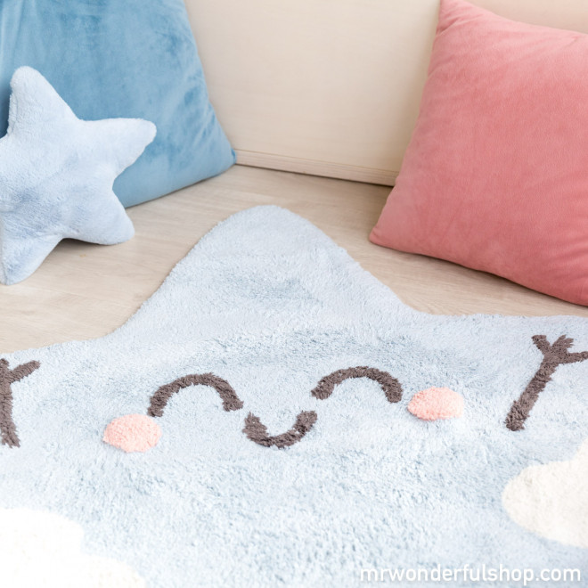 Alfombra lavable Lorena Canals - Silueta Happy Star