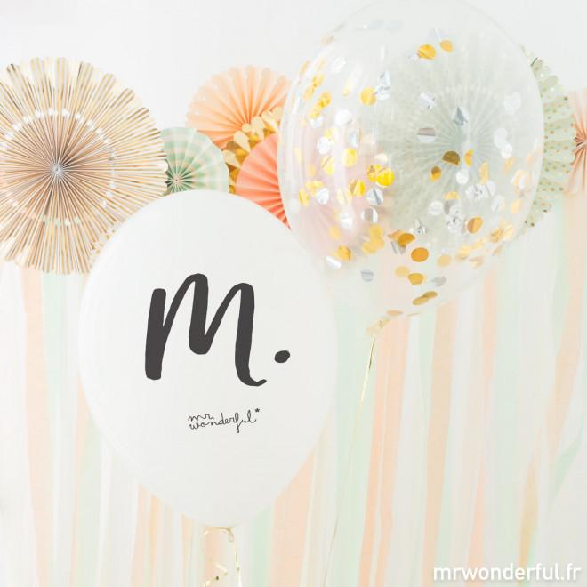 Ballons pour mariages - M. et Mme