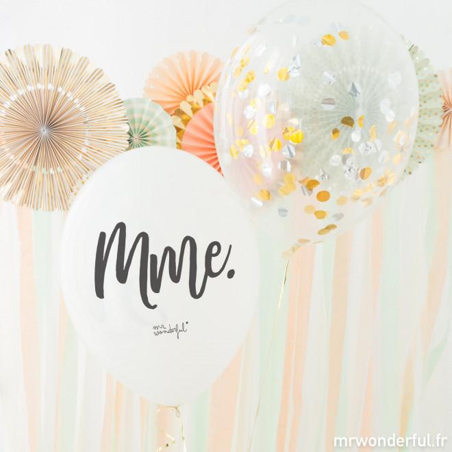 Ballons pour mariages - M. et Mme.