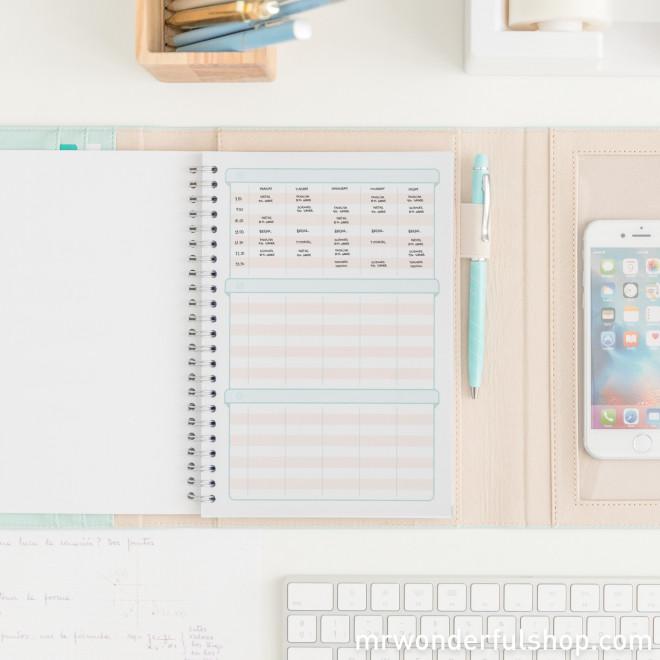 Porte-documents avec stylo - Notes pour une maîtresse qui a la classe