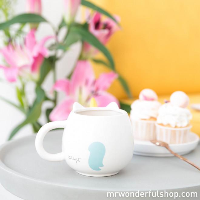 Tasse blanche Licorne