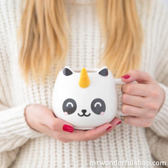 Tasse blanche panda