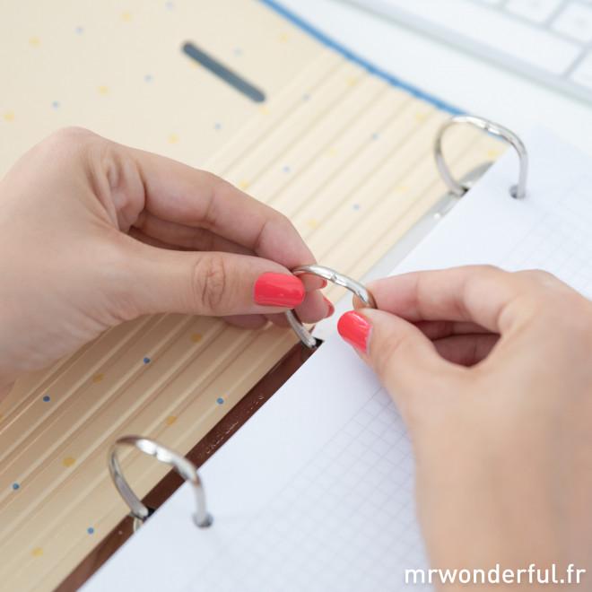 Classeur à anneaux - Qui prend bien ses notes n'est pas une tête de linotte