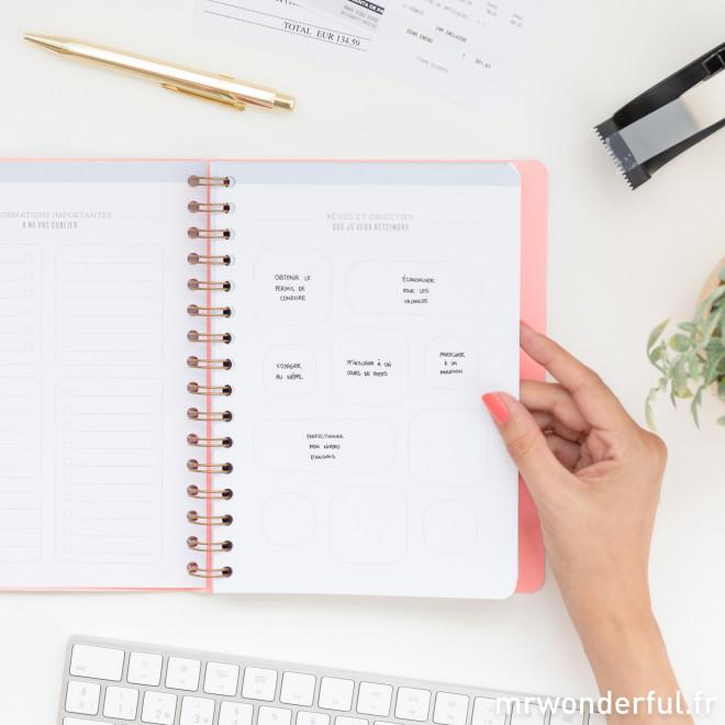 Cahier avec accessoires - Écris ici le meilleur de toi-même