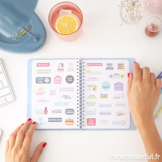 Agenda annuel classique petit format 2019 Semainier - Tout est possible avec de l'envie et du café