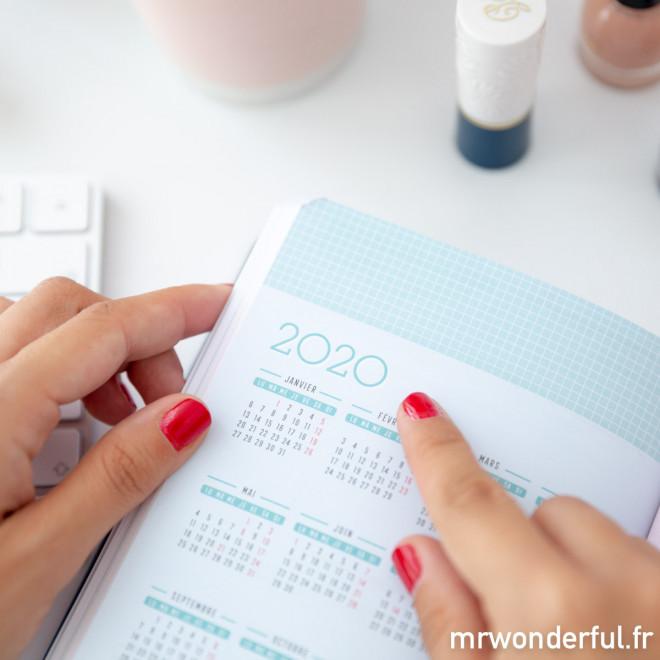 Agenda classique annuel petit format 2019 Journalier - Tout ce que je promets de terminer