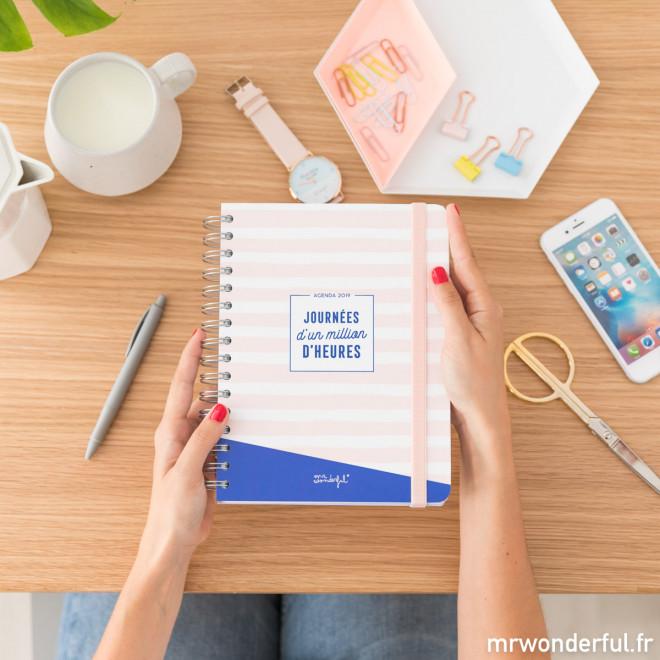 Agenda annuel classique 2019 Journalier - Journées d'un million d'heures