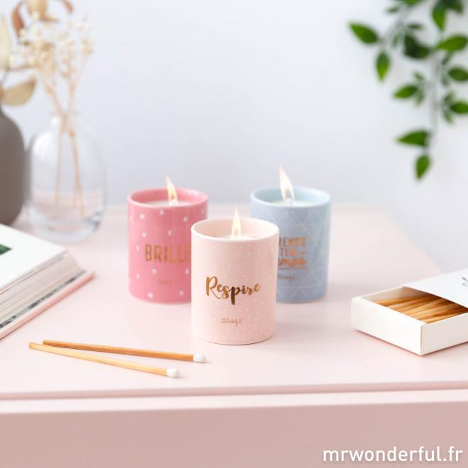 Set de 3 bougies - Respire, prends ton temps et... brille
