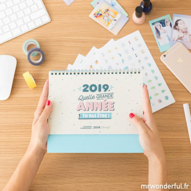 Calendrier scrapbook 2019