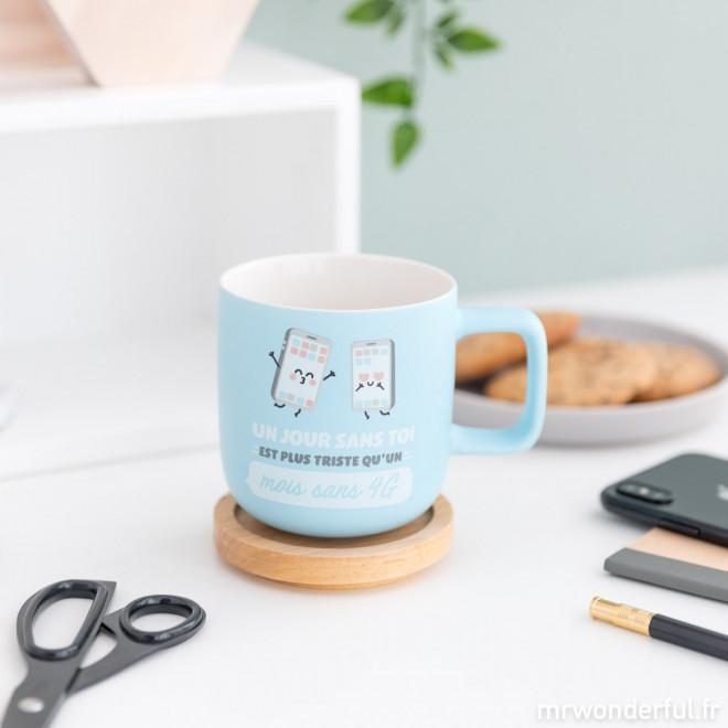 Mug - Un jour sans toi est plus triste qu'un mois sans 4G
