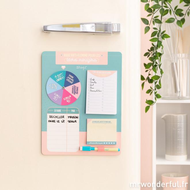 Tableau magnétique - Roue anti-flemme pour les tâches domestiques