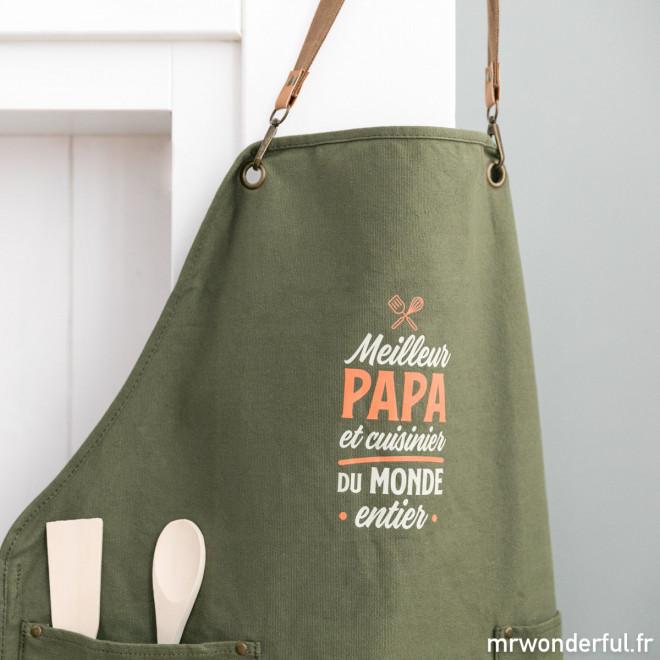 Tablier - Meilleur papa et cuisinier du monde entier