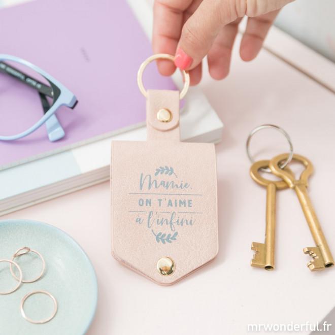 Porte-clés - Mamie, on t'aime à l'infini
