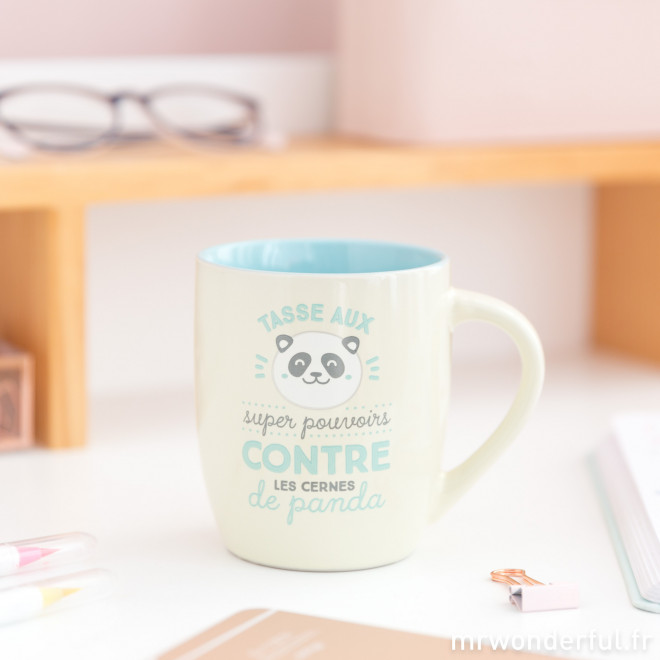 Mug - Aux super pouvoirs contre les cernes de panda
