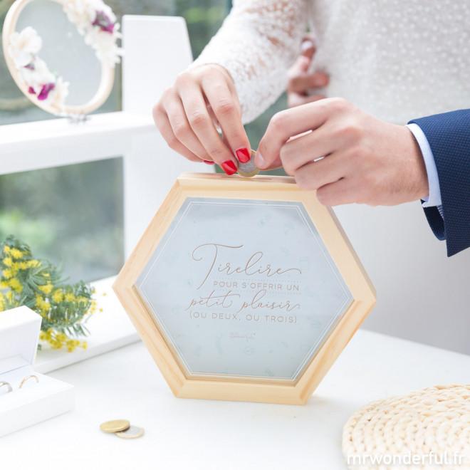 Tirelire pour mariage