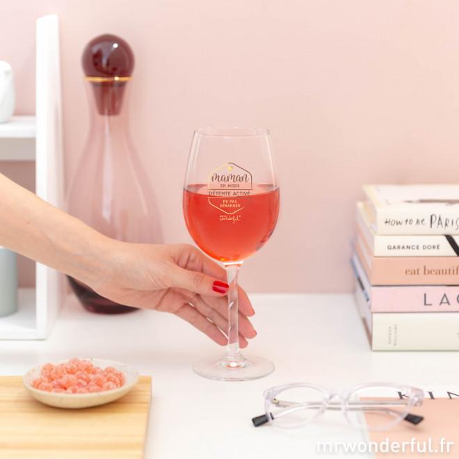 Verre à vin - Maman en mode détente activé : Ne pas déranger