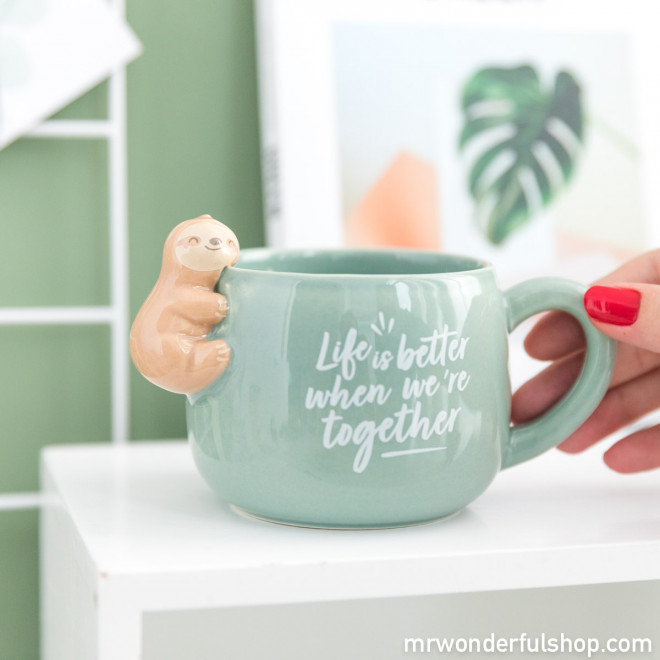 Mug paresseux Slow Collection - Life is better when we're together