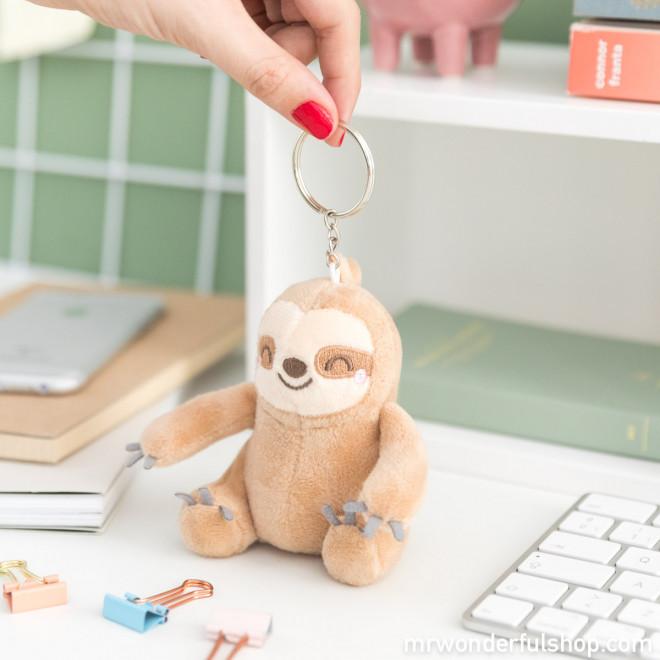 Porte-clés peluche Paresseux - Slow Collection