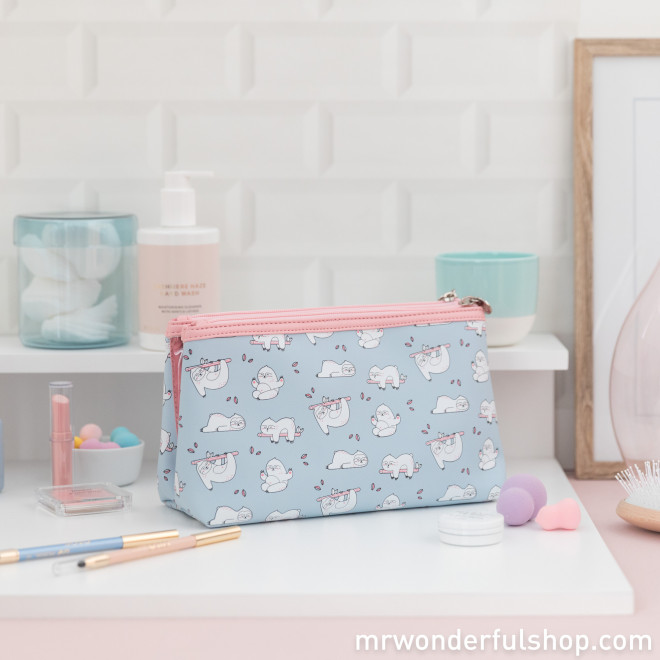 Trousse de toilette double paresseux Slow Collection - Ready in 5 hours