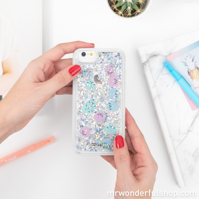 Coque transparente à paillettes pour iPhone 6/7/8 - Beignets