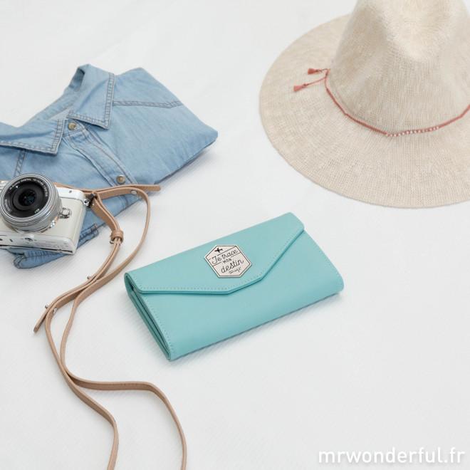 Portefeuille bleu