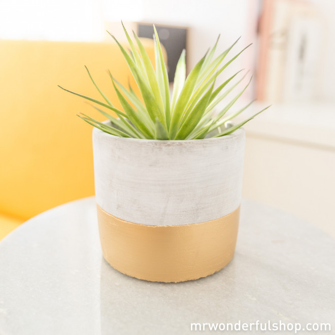 Yellow cache pot