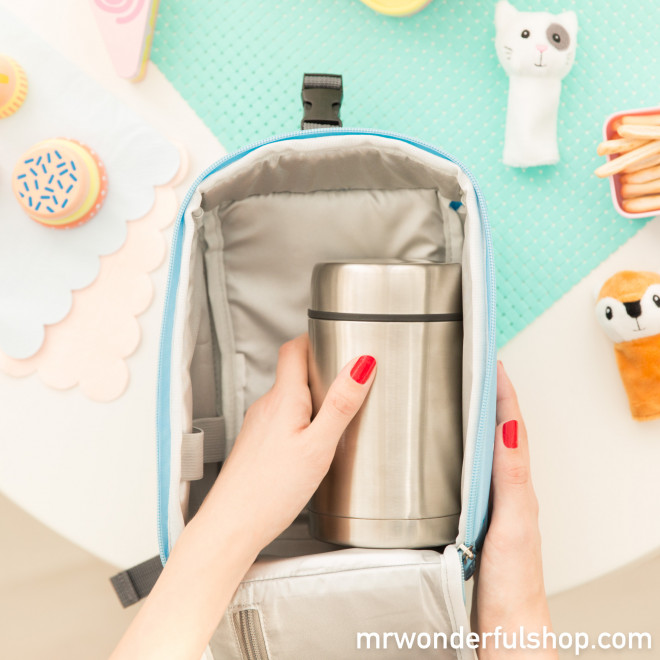 Sac à dos avec thermos pour aliments - Let's discover the galaxy (ENG)