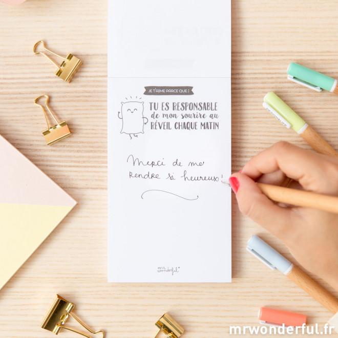 Bloc-notes amoureux - 120 raisons qui font que je t'aime (FR)