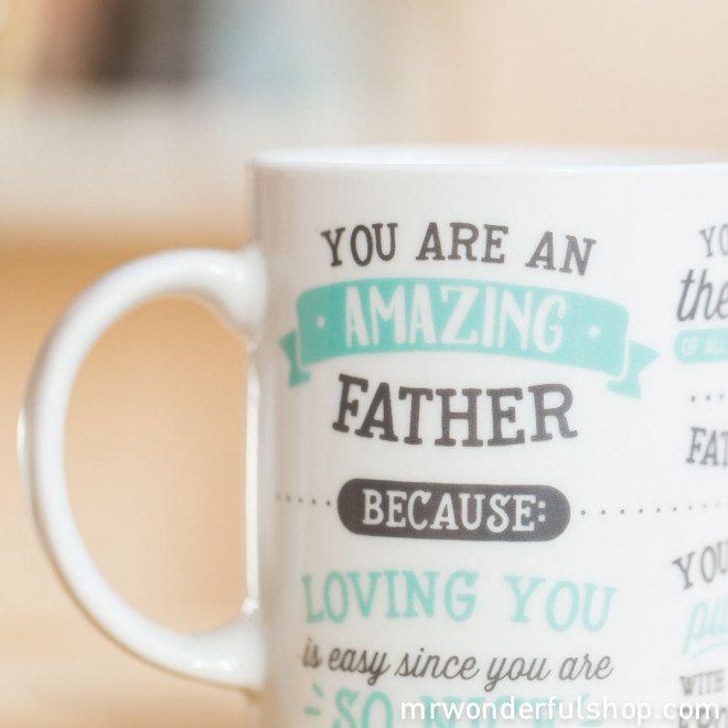 "Mug ""You are an amazing father"" (ENG)"