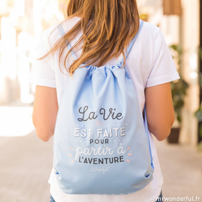 Sac - La vie est faite pour partir à l'aventure (FR)