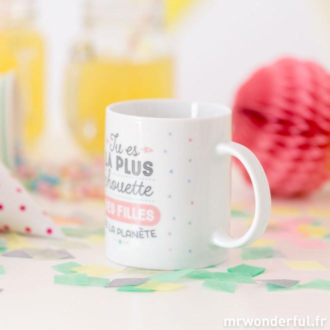 Mug - Tu es la plus chouette des filles de la planète (FR)